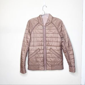 Lululemon Reversible Coat Full Zip Pink Size 8